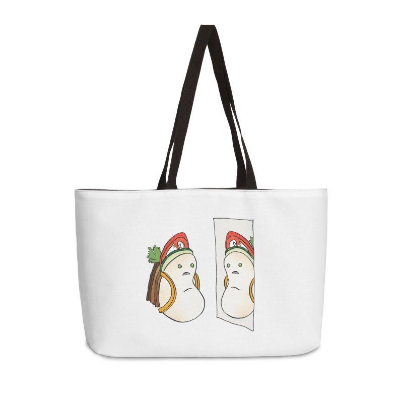 confused: jerk pork belly bao Accessories Weekender Bag Bag by How to Eat Your Feelings