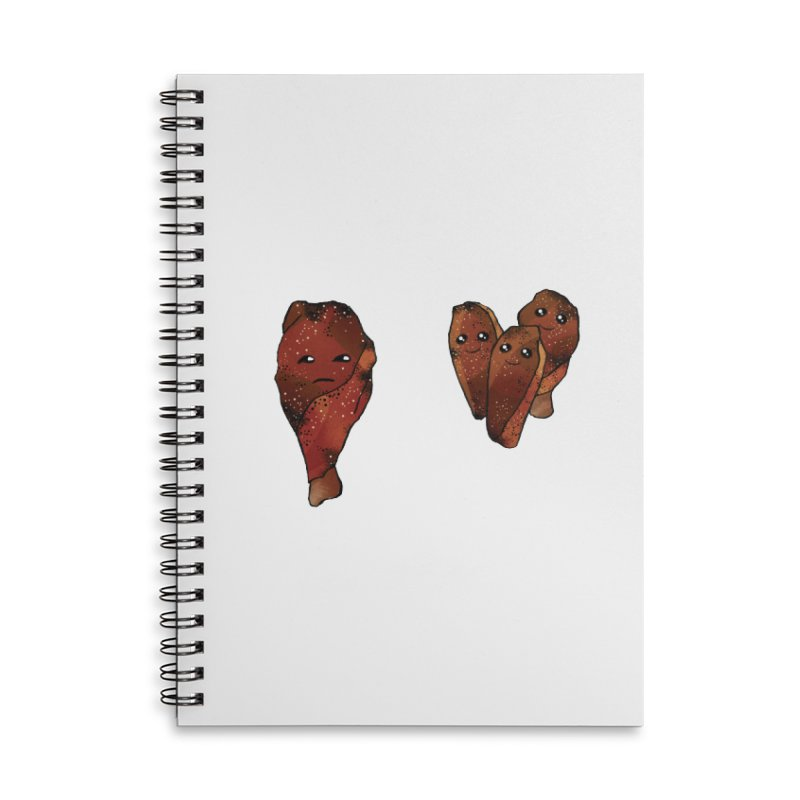 coldblooded: smoked honey wings Accessories Lined Spiral Notebook by How to Eat Your Feelings