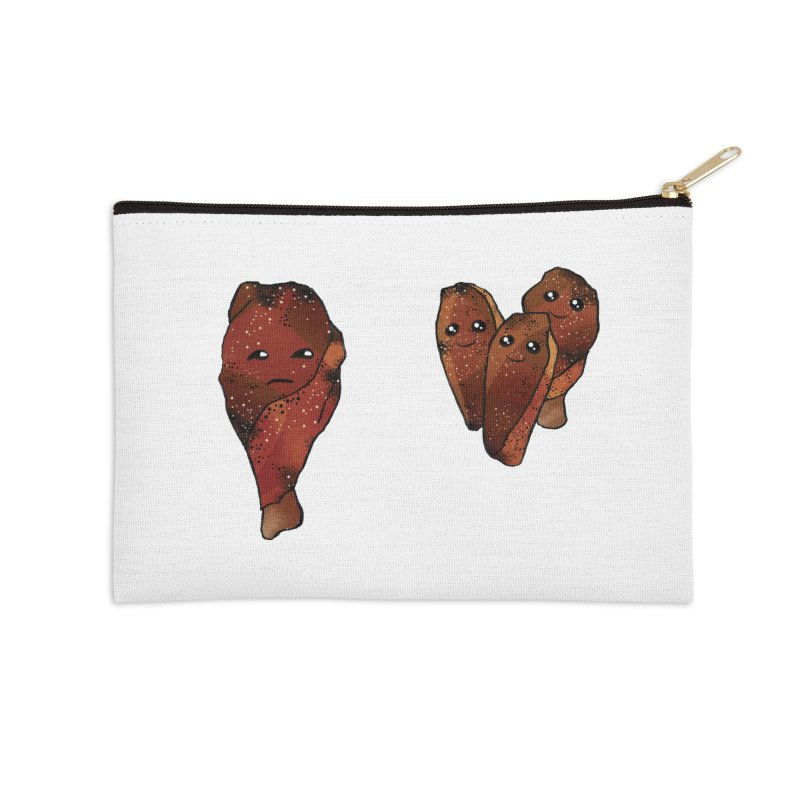 coldblooded: smoked honey wings Accessories Zip Pouch by How to Eat Your Feelings