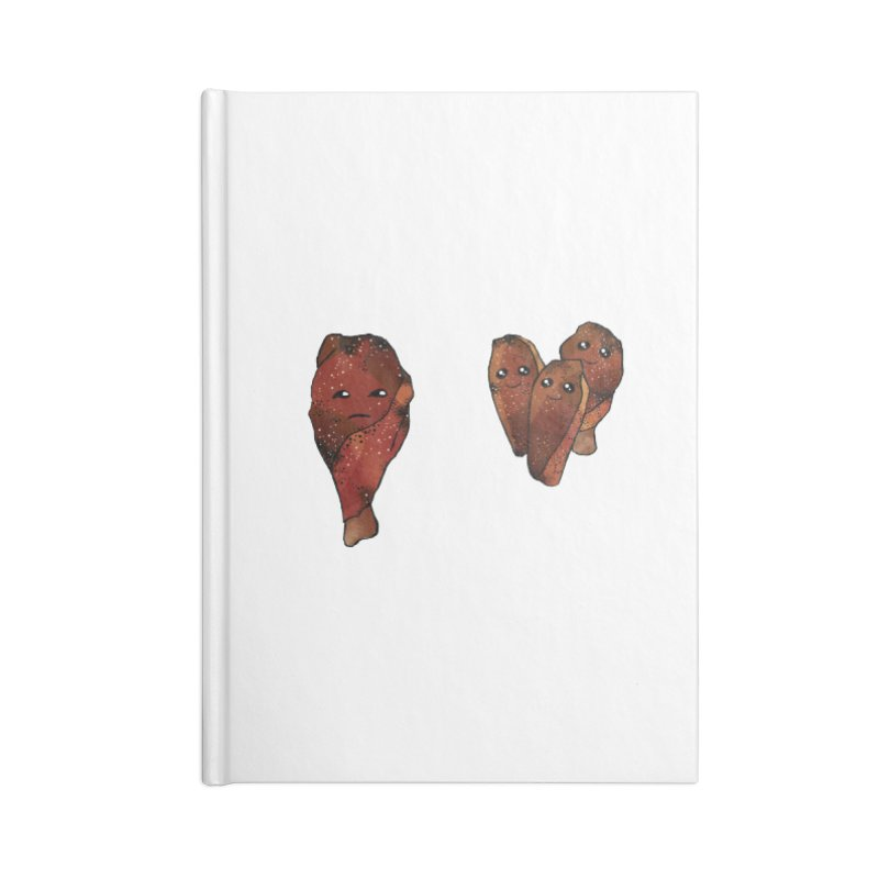 coldblooded: smoked honey wings Accessories Lined Journal Notebook by How to Eat Your Feelings
