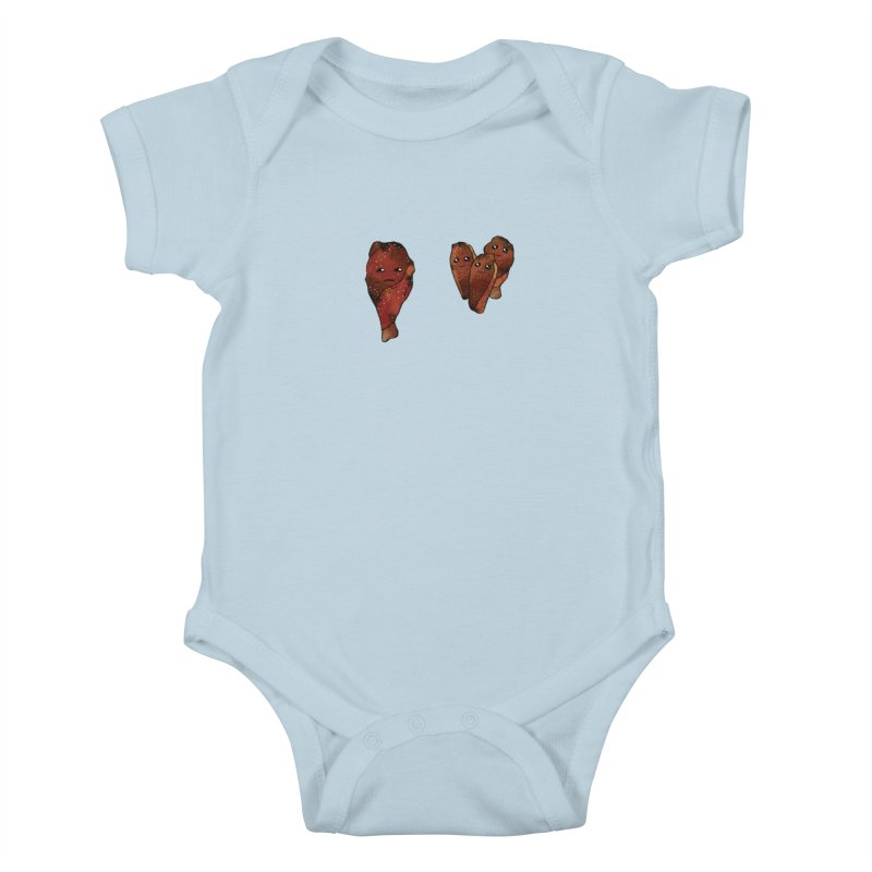 coldblooded: smoked honey wings Kids Baby Bodysuit by How to Eat Your Feelings