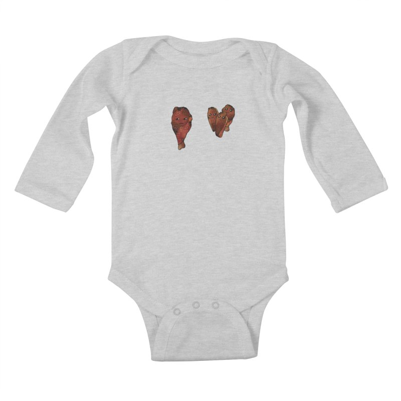 coldblooded: smoked honey wings Kids Baby Longsleeve Bodysuit by How to Eat Your Feelings