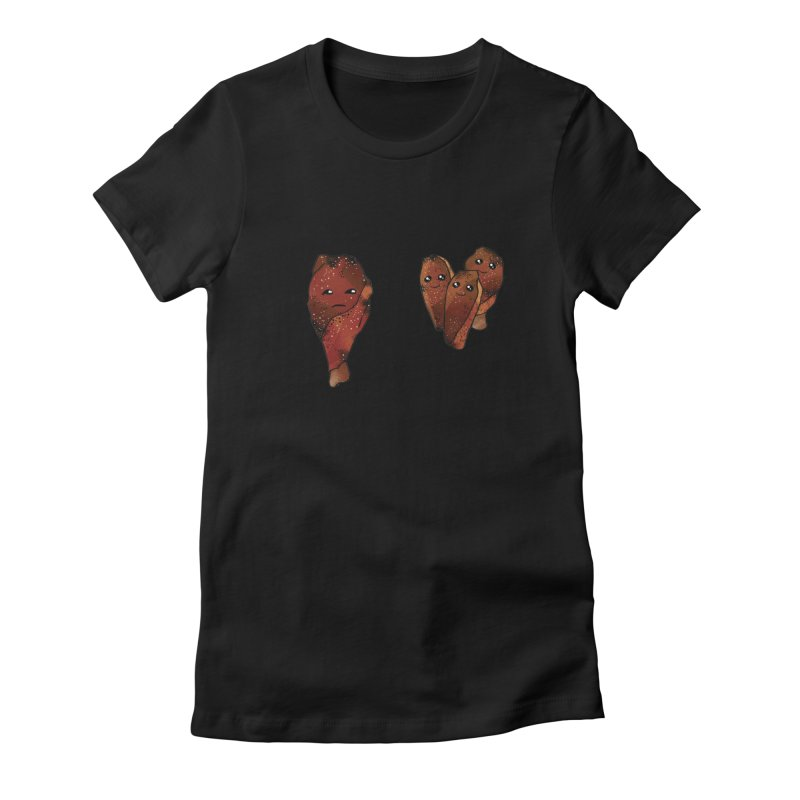 coldblooded: smoked honey wings Women's Fitted T-Shirt by How to Eat Your Feelings