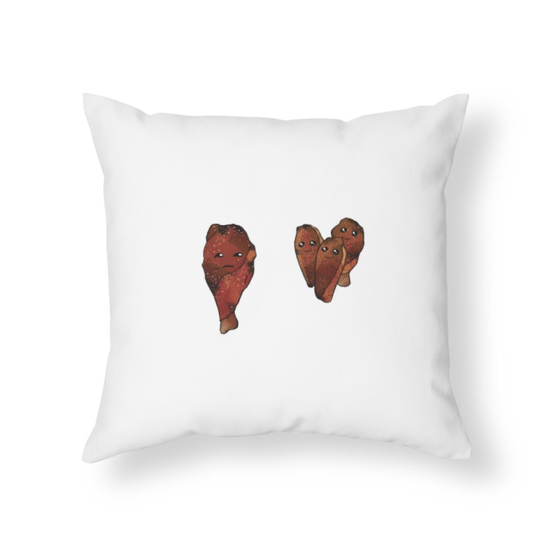 coldblooded: smoked honey wings Home Throw Pillow by How to Eat Your Feelings
