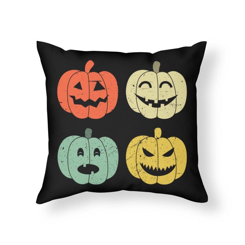 Vintage Retro Pumpkins Home Throw Pillow by itshoneytree's Artist Shop