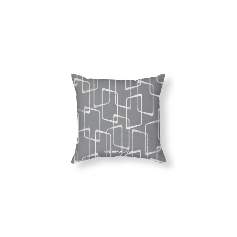 Retro Gray and White Lino Print Geometric Pattern by itsjensworld's Artist Shop