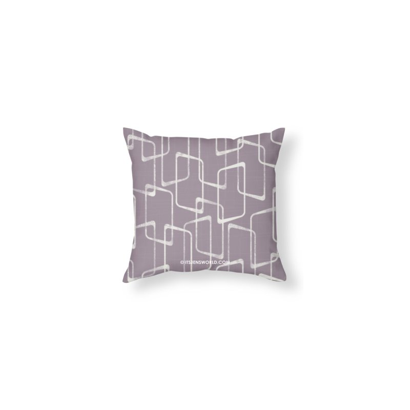Soft Purple and White Retro Geometric Pattern by itsjensworld's Artist Shop