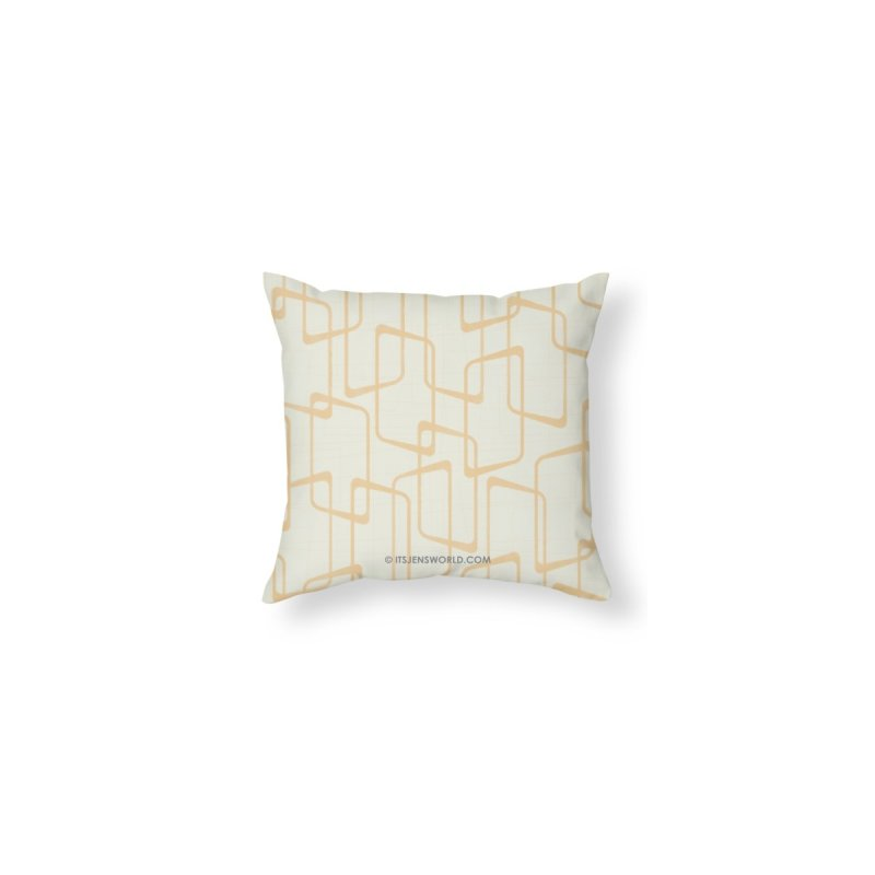 Reverse Soft Yellow Retro Geometric Pattern by itsjensworld's Artist Shop