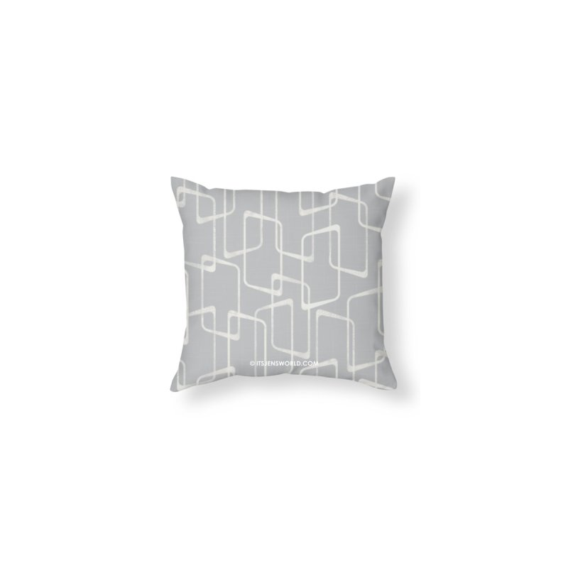 Silver Gray Mid Century Geometric Pattern by itsjensworld's Artist Shop