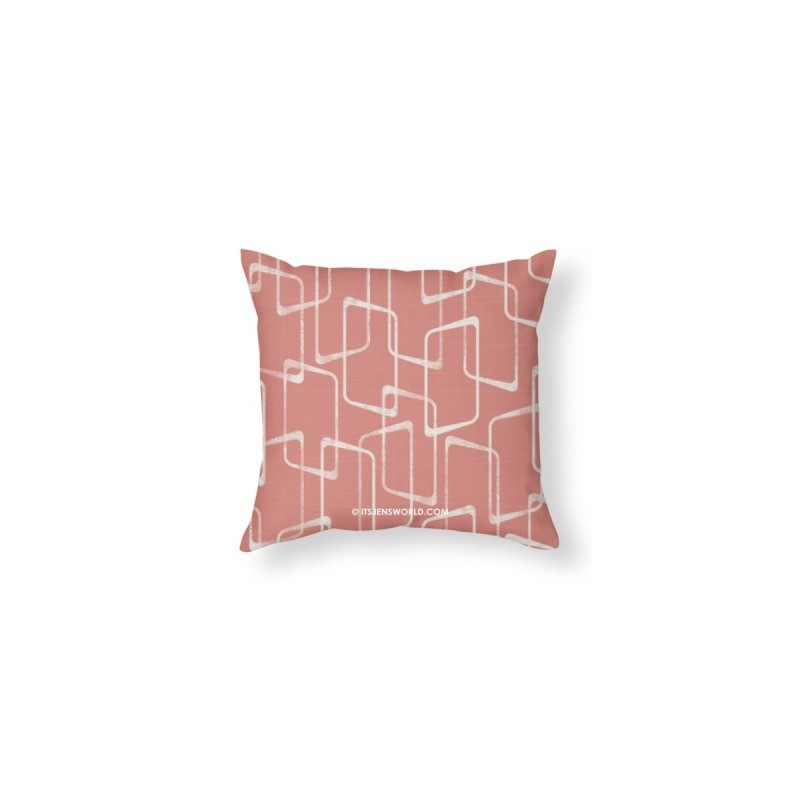 Retro Salmon Pink Geometric Pattern by itsjensworld's Artist Shop