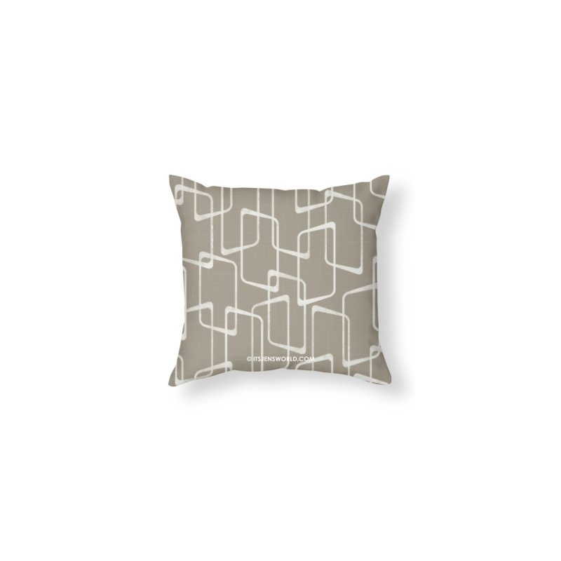 Retro Medium Warm Gray Geometric Print by itsjensworld's Artist Shop