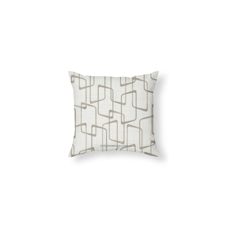 Reverse Medium Warm Gray Retro Geometric Pattern by itsjensworld's Artist Shop