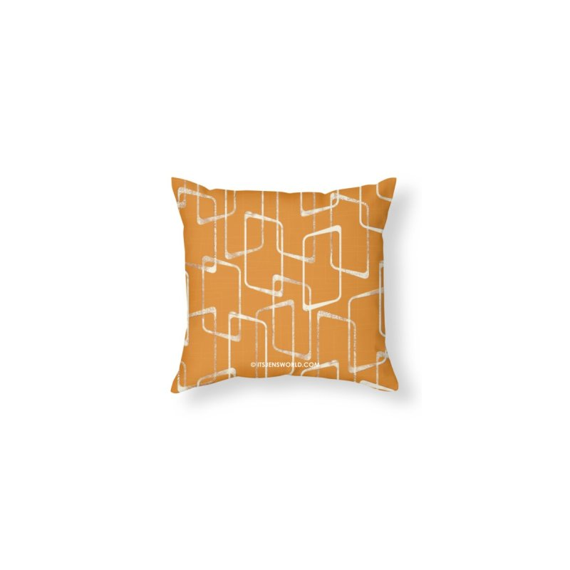 Retro Orange Lino Print Geometric Pattern by itsjensworld's Artist Shop
