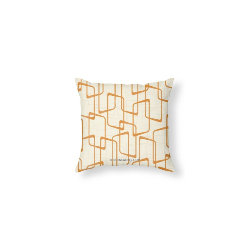 Reverse Orange Retro Geometric Pattern by itsjensworld's Artist Shop