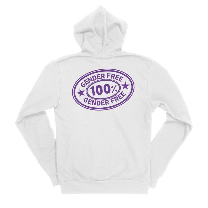 100% Gender Free Men's Zip-Up Hoody by It's Just DJ