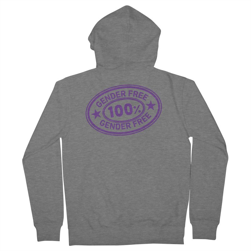 100% Gender Free Women's Zip-Up Hoody by It's Just DJ