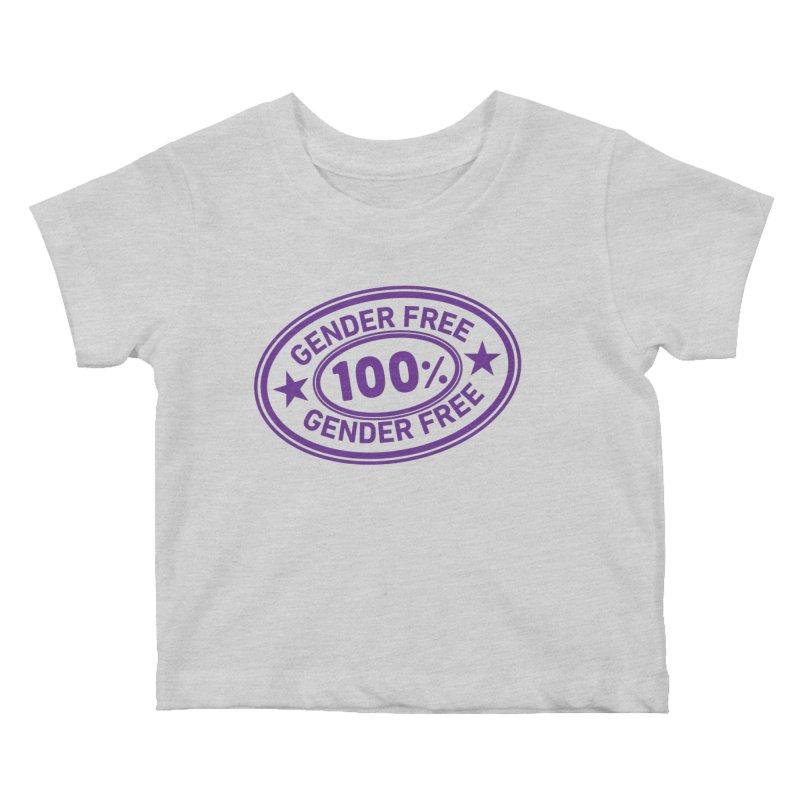 100% Gender Free Kids Baby T-Shirt by It's Just DJ
