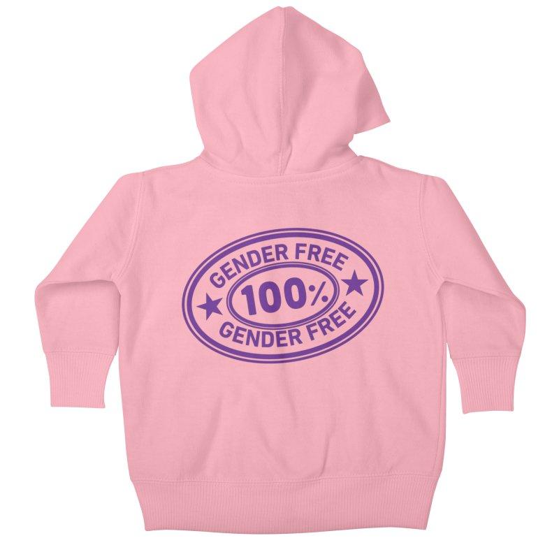 100% Gender Free Kids Baby Zip-Up Hoody by It's Just DJ