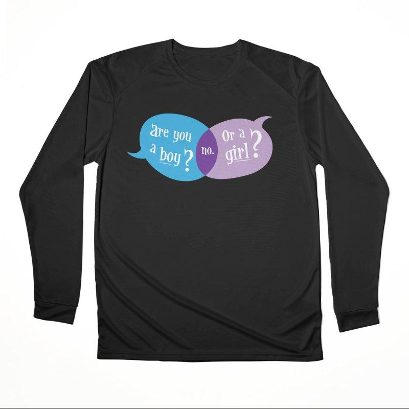Boy or Girl? Women's Longsleeve T-Shirt by It's Just DJ