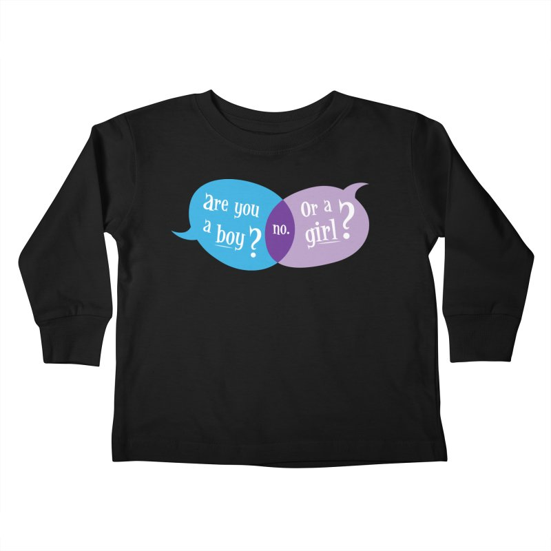 Boy or Girl? Kids Toddler Longsleeve T-Shirt by It's Just DJ