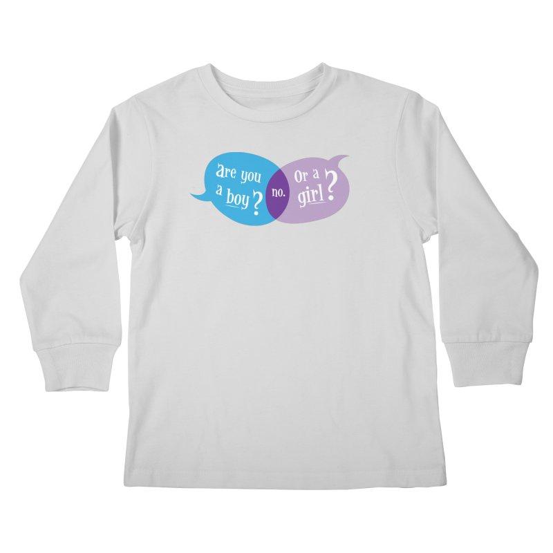 Boy or Girl? Kids Longsleeve T-Shirt by It's Just DJ