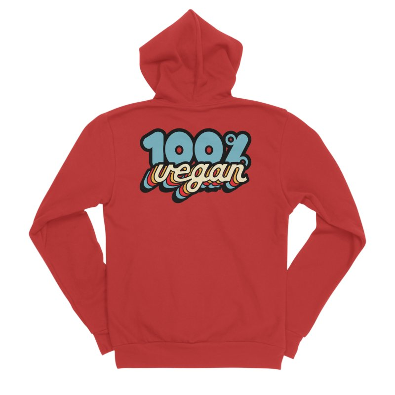 100% Vegan Men's Zip-Up Hoody by It's Just DJ