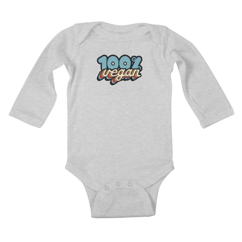 100% Vegan Kids Baby Longsleeve Bodysuit by It's Just DJ