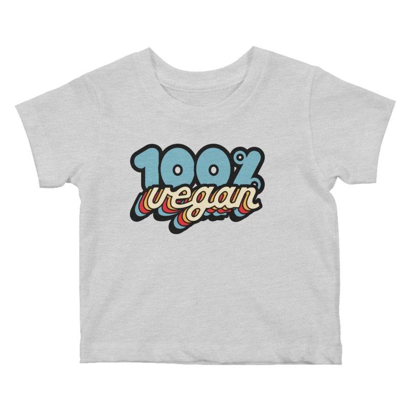100% Vegan Kids Baby T-Shirt by It's Just DJ