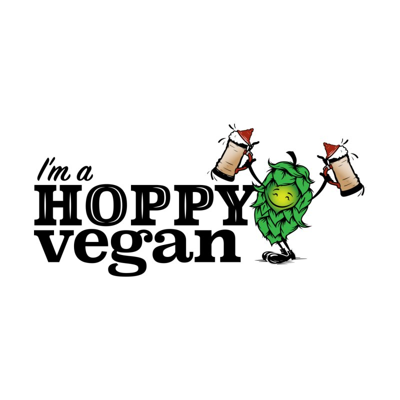 Hoppy Vegan Men's T-Shirt by It's Just DJ