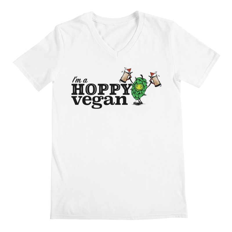 Hoppy Vegan Men's V-Neck by It's Just DJ