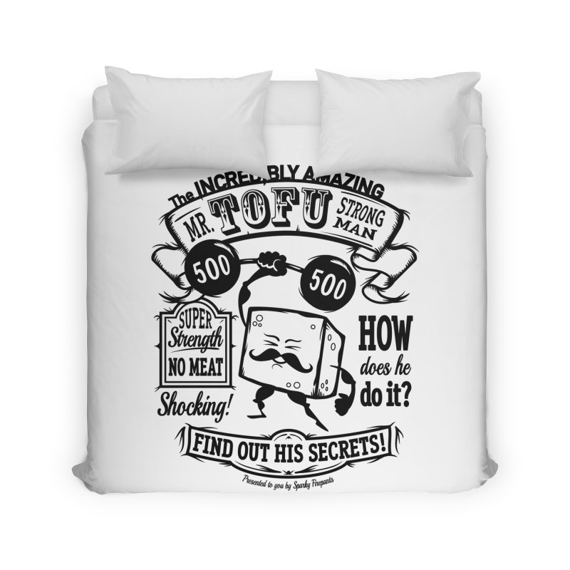 Tofu Strongman Home Duvet by It's Just DJ