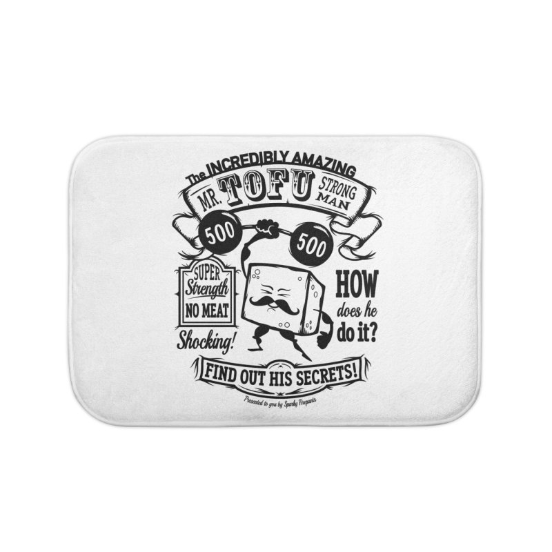 Tofu Strongman Home Bath Mat by It's Just DJ