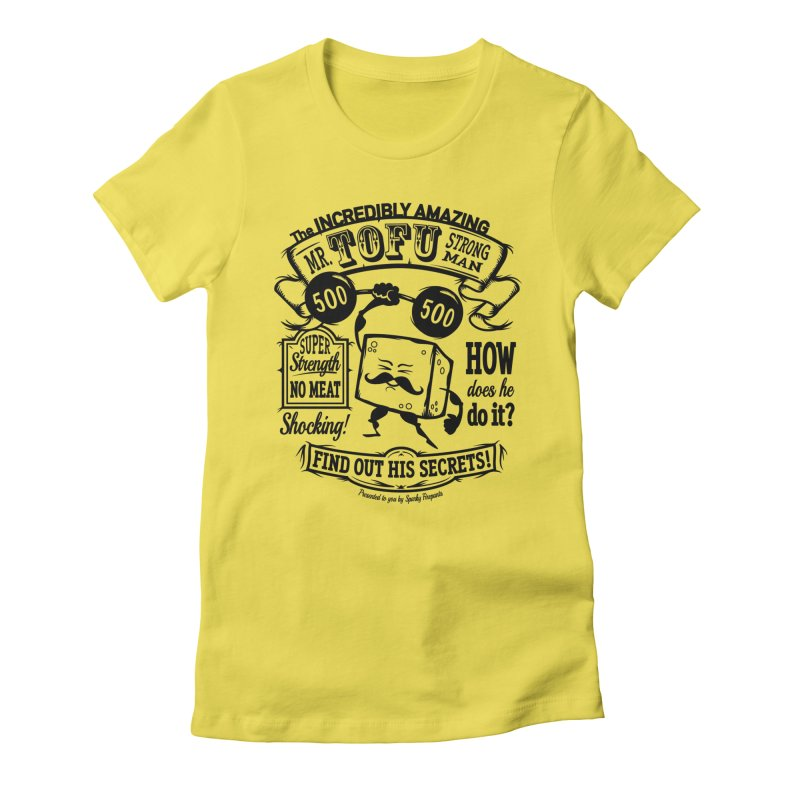 Tofu Strongman Women's T-Shirt by It's Just DJ