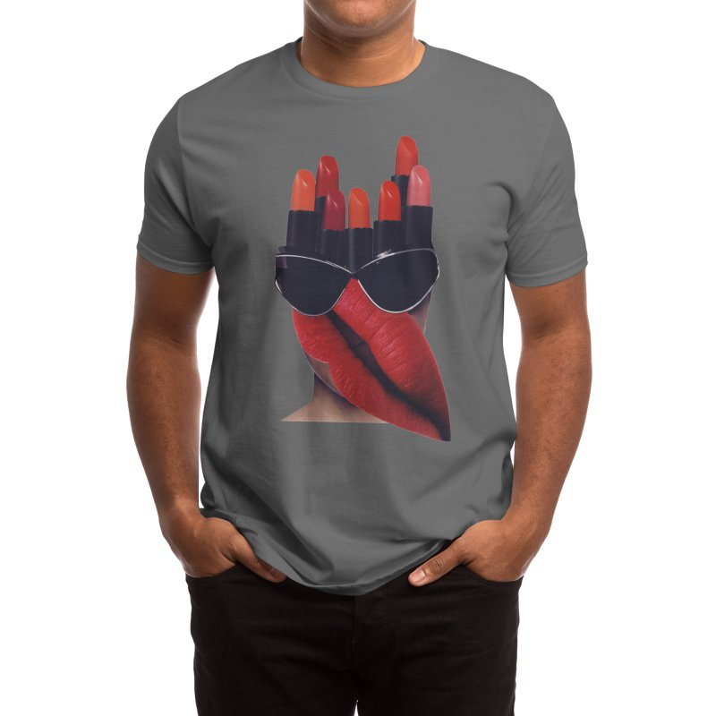 Red Lipstick Monster Men's T-Shirt by itslucamainini's Shop