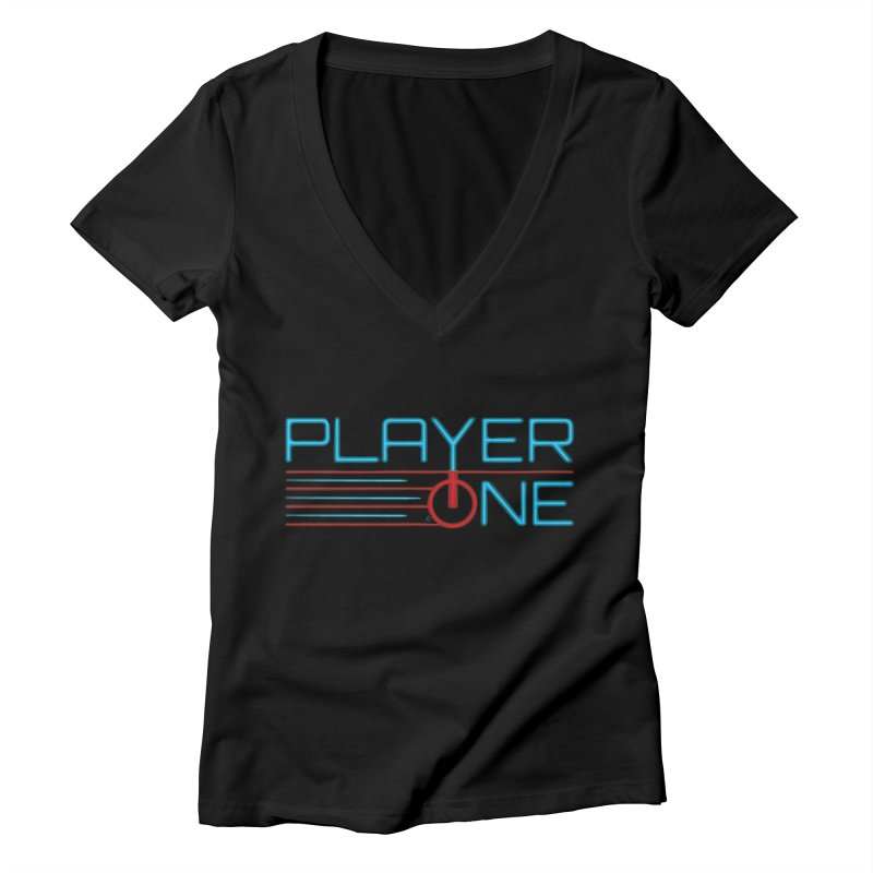 Player One T-Shirt Women's V-Neck by itsmarkcooper's Artist Shop