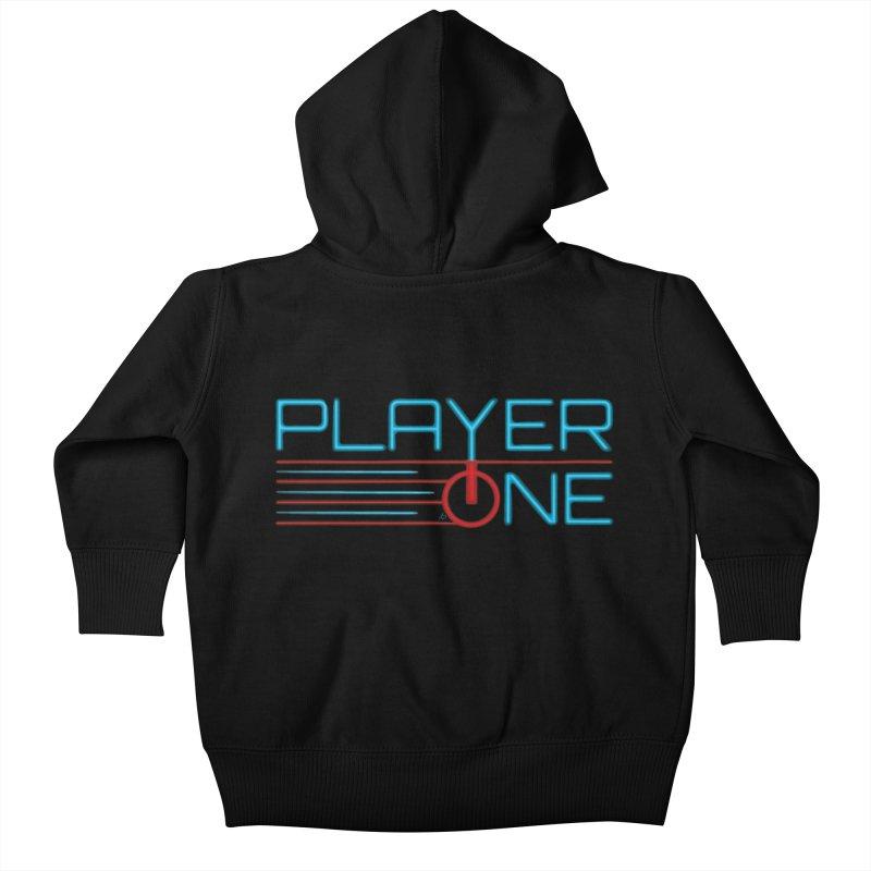 Player One T-Shirt Kids Baby Zip-Up Hoody by itsmarkcooper's Artist Shop