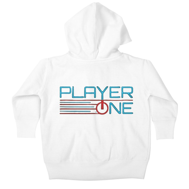 Player One T-Shirt Kids Baby Zip-Up Hoody by itsmarkcooper's Artist Shop