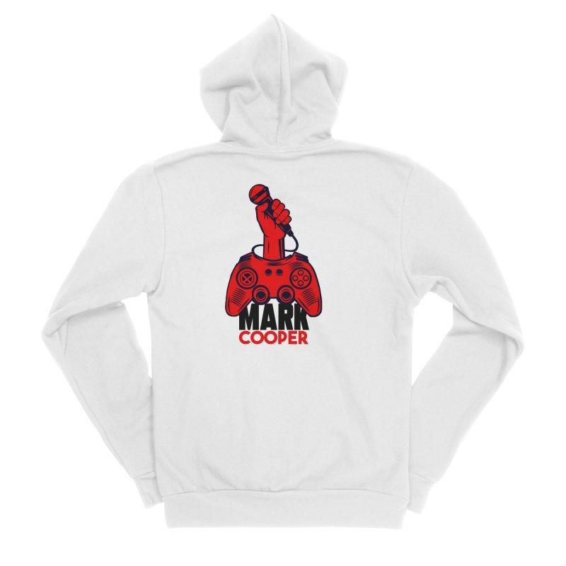 Mark Cooper (Red n Black) Logo Women's Zip-Up Hoody by itsmarkcooper's Artist Shop