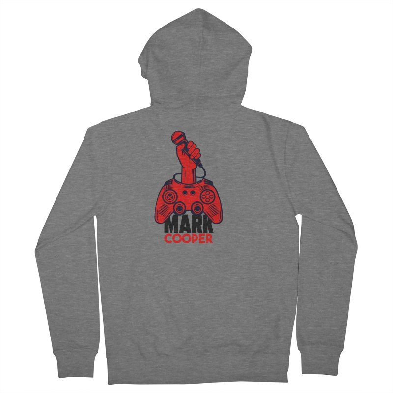 Mark Cooper (Red n Black) Logo Men's Zip-Up Hoody by itsmarkcooper's Artist Shop