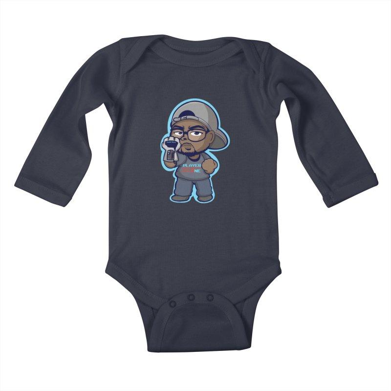 Chibi Player One Kids Baby Longsleeve Bodysuit by itsmarkcooper's Artist Shop