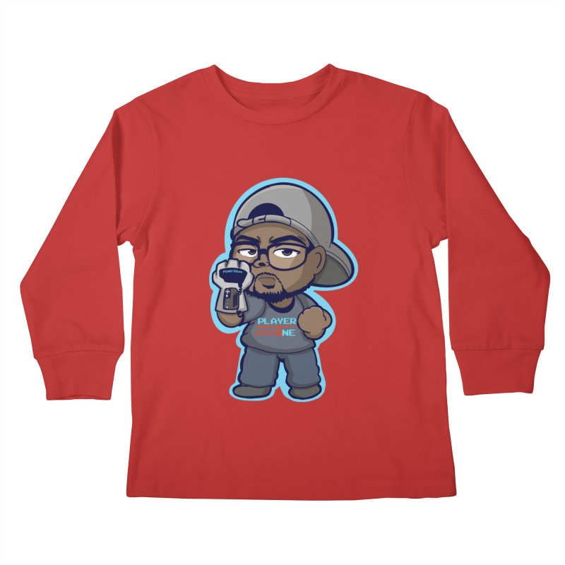 Chibi Player One Kids Longsleeve T-Shirt by itsmarkcooper's Artist Shop