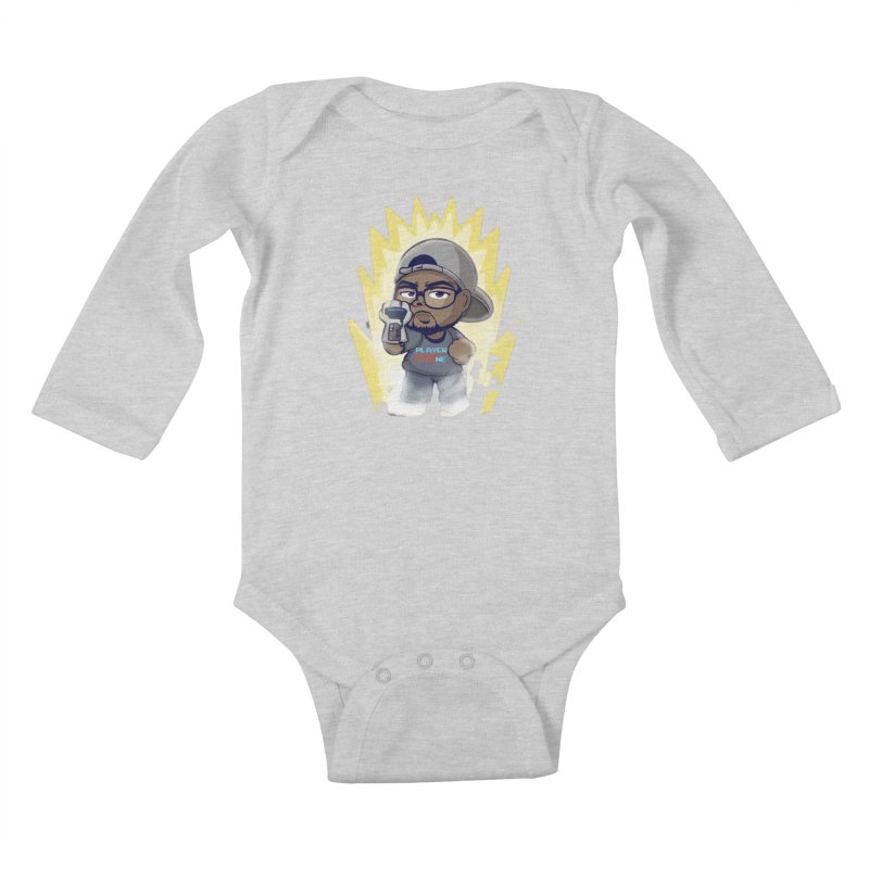 Power Up Player One Kids Baby Longsleeve Bodysuit by itsmarkcooper's Artist Shop