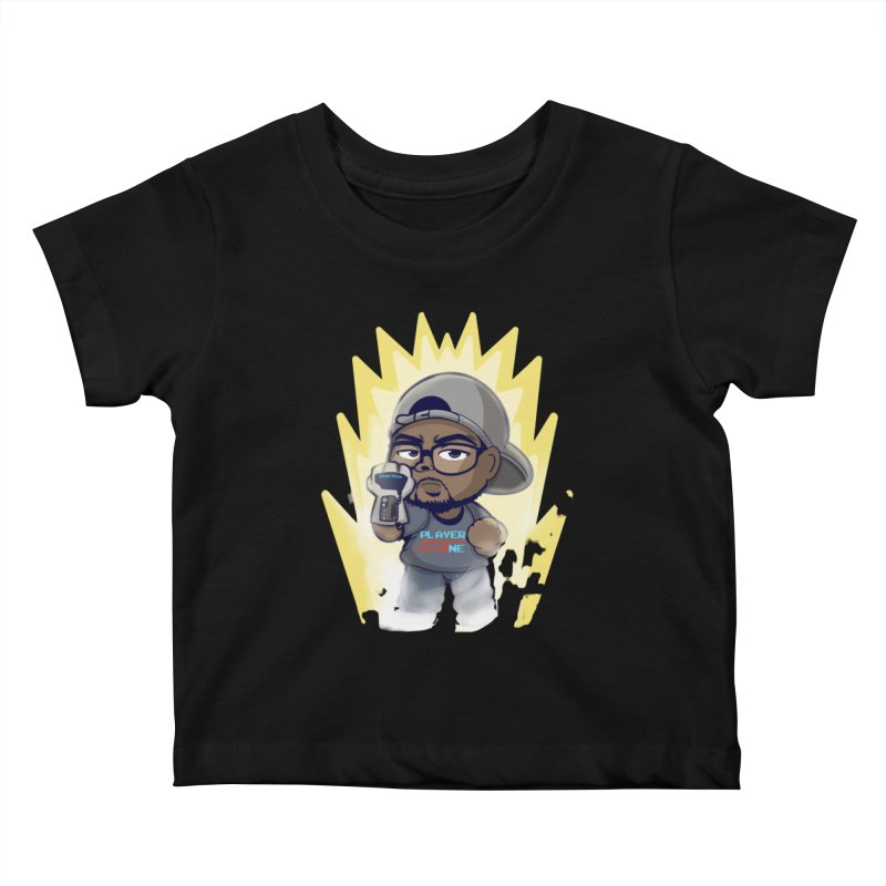 Power Up Player One Kids Baby T-Shirt by itsmarkcooper's Artist Shop
