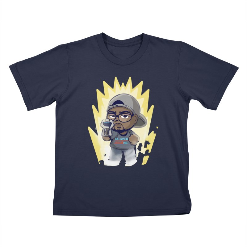 Power Up Player One Kids T-Shirt by itsmarkcooper's Artist Shop