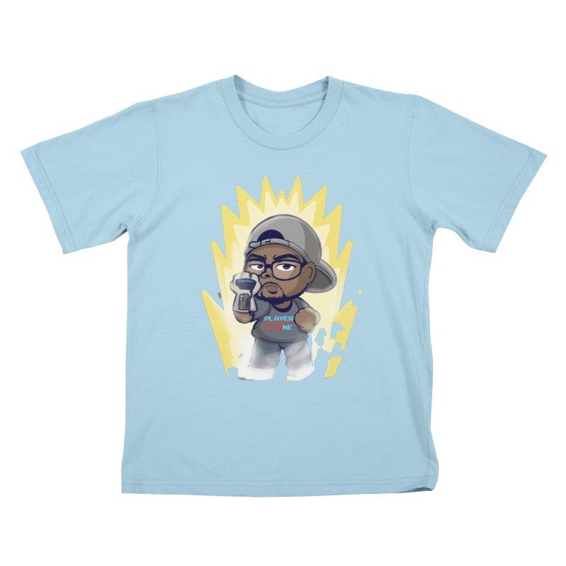 Power Up Player One Kids T-Shirt by itsmarkcooper's Artist Shop