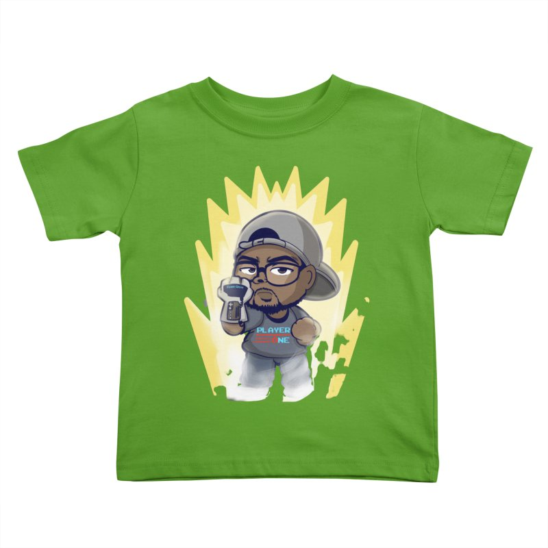 Power Up Player One Kids Toddler T-Shirt by itsmarkcooper's Artist Shop