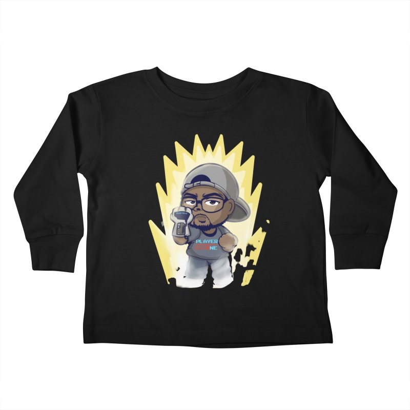 Power Up Player One Kids Toddler Longsleeve T-Shirt by itsmarkcooper's Artist Shop