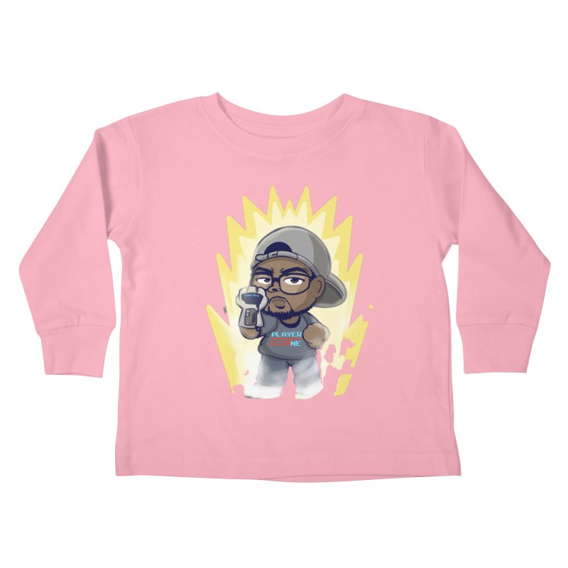 Power Up Player One Kids Toddler Longsleeve T-Shirt by itsmarkcooper's Artist Shop