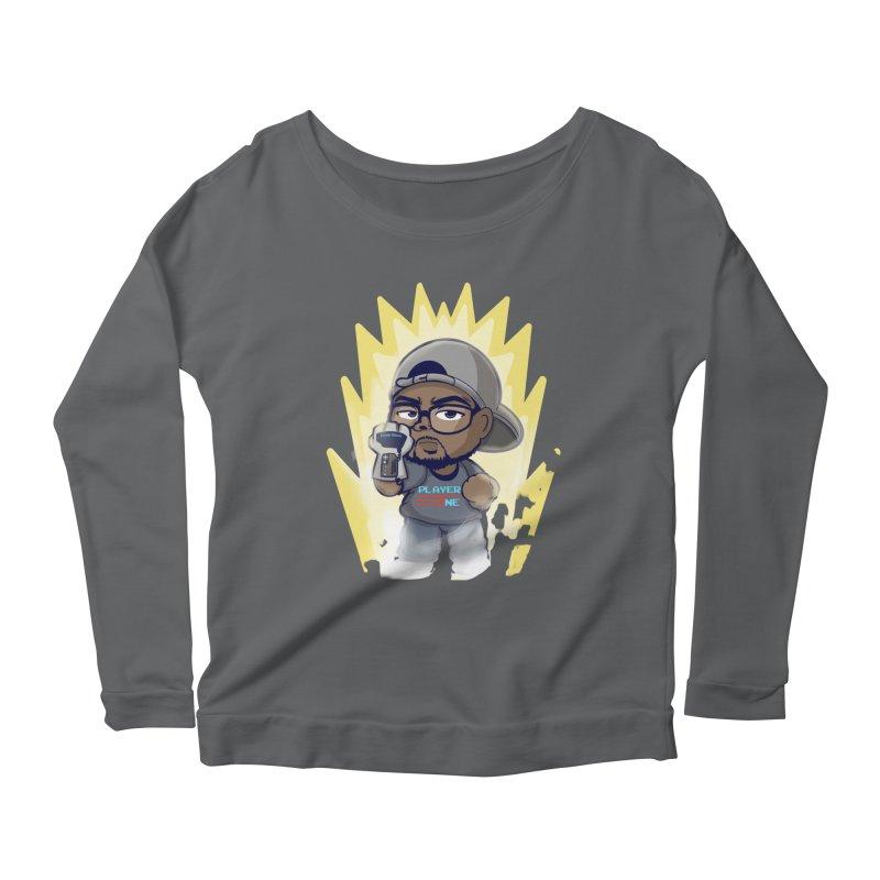 Power Up Player One Women's Longsleeve T-Shirt by itsmarkcooper's Artist Shop