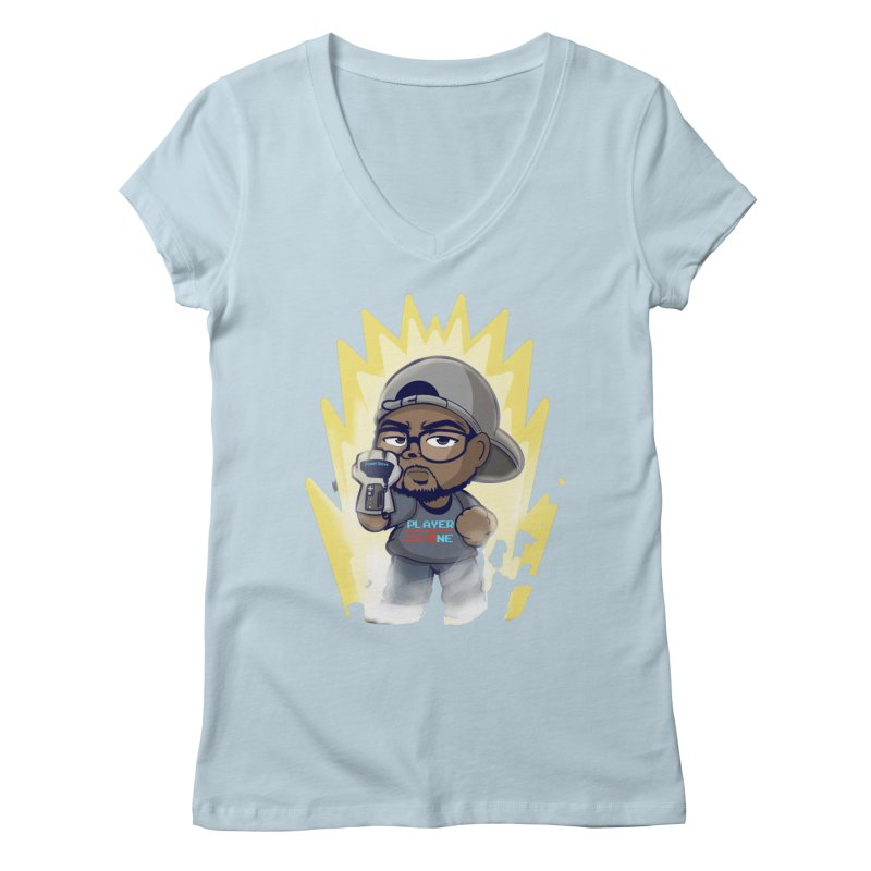Power Up Player One Women's V-Neck by itsmarkcooper's Artist Shop